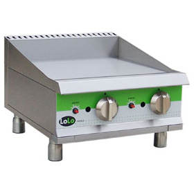 "LoLo LG24TPF - Gas Griddle - 24.5"" Wide - Thermostat Control (1"" Steel Plate - 2 Controls - 60,000 Btu)"