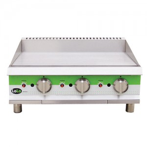 "LoLo LG36TPF - Gas Griddle - 36.5"" Wide - Thermostat Control (1"" Steel Plate - 3 Controls - 90,000 Btu)"