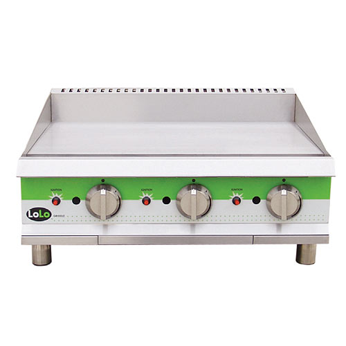 """LoLo LG48TPF - Gas Griddle - 48.5"""" Wide - Thermostat Control (1"""" Steel Plate - 4 Controls - 120,000 Btu)"""