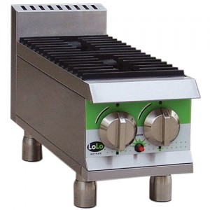 "LoLo LHP212MPF - Gas Hot Plate - Two (2) Burners - 12"" Wide"