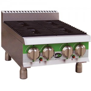 "LoLo LHP424MPF - Gas Hot Plate - Four (4) Burners - 24"" Wide"