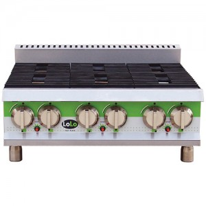 "LoLo LHP636MPF - Gas Hot Plate - Six (6) Burners - 36"" Wide"