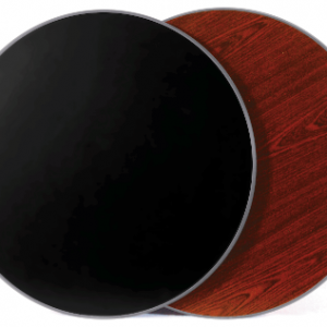 "KTI 24"" Round Reversible Table Top (Mahogany / Black)"