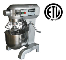 Uniworld 10 QT Planetary Mixer w/ Guard, SS Bowl, and 3 Attachments
