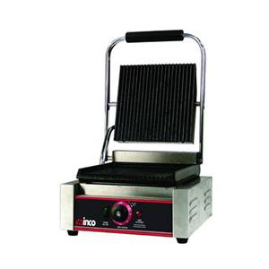 Winco EPG-1 Electric Single Panini Grill Countertop