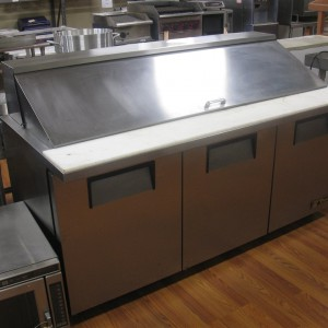 "True 72"" ( 6' ) Refrigerated Mega Top Pizza Prep Table"