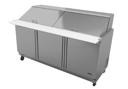 "Fagor FMT-72-30 Mega Top Prep Table 72"" 30 Pan Capacity"