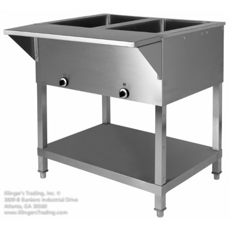 KTI SW-2H-120 2 Hole Electric Steam Table