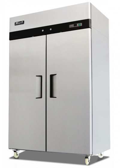 Migali C-2F Stainless Steel Reach In Freezer Double Solid Doors