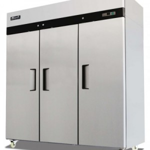 Migali C-3F Stainless Steel Reach In Freezer Three Solid Doors