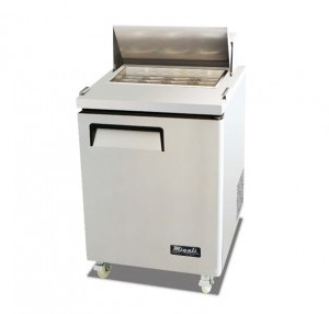 Migali C-SP27-8 Sandwich Prep Table One Solid Door 8 Pan Cap