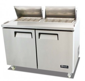 "Migali C-SP60-24BT 61"" Commercial Refrigerated Sandwich Prep Table Cooler Competitor Series"