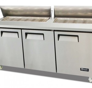 "Migali C-SP72-30BT 73"" Commercial Refrigerated Sandwich Prep Table Cooler Competitor Series"