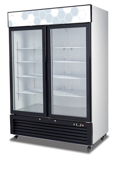 Migali C-49RM SS Reach-In Refrigerator Two Hinged Glass Door