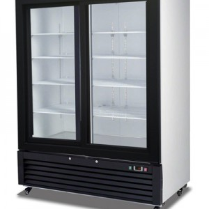 Migali C-49RS SS Reach In Refrigerator Two Sliding Glass Doors