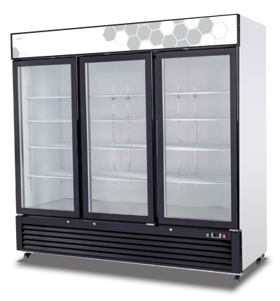 Migali C-72FM SS Reach-In Freezer Three Hinged Glass Doors