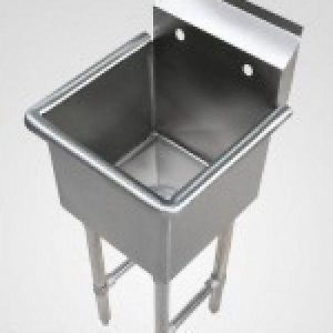 "KTI ECS-1-1818 Economy Single Compartment Sink (18""x18""x14.5"" OD 23 1/2""x23 1/2"")"