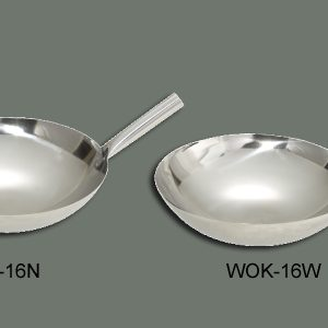 "Winco Wok-16N Chinese Wok Stainless Steel (16"")"