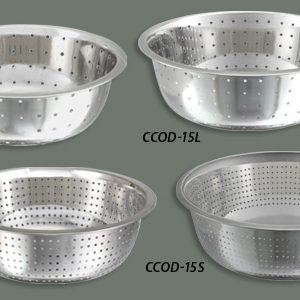 "Winco CCOD-15S Chinese Style Colanders Stainless Steel (16-3/8"" x 5-1/2"")"
