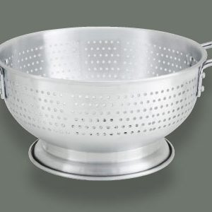 "Winco ALO-16BH Colanders With Base Stainless Steel (16-1/2"" x 7-1/8"")"
