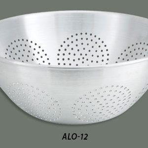 "Winco ALO-16H Chinese Style Colanders Stainless Steel (16-1/8"" x 8"")"