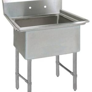 "BK BKS6-1-24-14S 16 Gauge One Compartment Sink (24""x 24""x 14"") / no Drainboard"