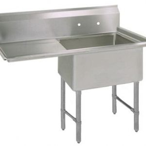 "BK BKS6-1-1620-14-18LS 16 Gauge One Compartment Sink (16""x 20""x 14"") / DB(1)L-18"""