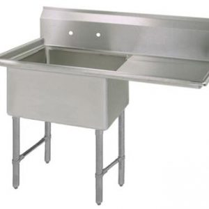 "BK BKS6-1-1620-14-18RS 16 Gauge One Compartment Sink (16""x 20""x 14"") / DB(1)R-18"""