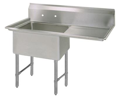 "BK BKS6-1-18-14-18RS 16 Gauge One Compartment Sink (18""x 18""x 14"") / DB(1)R-18"""