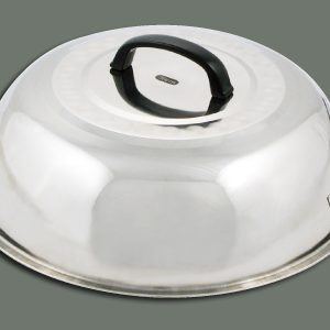 "Winco WKCS-14 Wok Covers Stainless Steel (13-3/4"")"