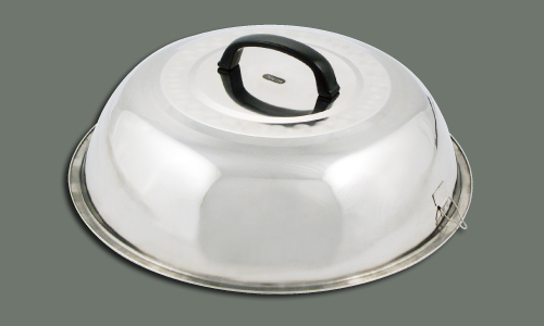"Winco WKCS-15 Wok Covers Stainless Steel (15-3/8"")"