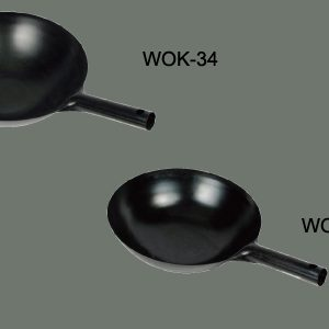 "Winco WOK-34 Black Carbon Steel Woks Carbon Steel (14"")"